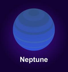 neptune planet icon isometric style vector image