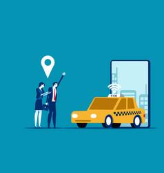 online car sharing concept business trasportation vector image
