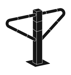 Parking construction barricade icon in black style vector