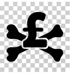 Pound mortal debt icon vector