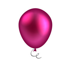 purple balloon isolated on white background vector image