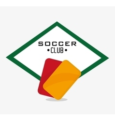 Red and yellow card of soccer sport design vector