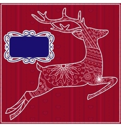 Red background with deer vector