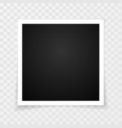retro photo frame with shadows vector image