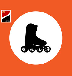roller skating icon vector image