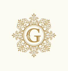 royal luxury heraldic crest logo vector image