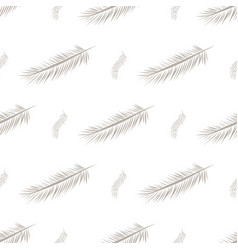 Seamless abstract feather background decoration vector