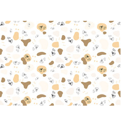 Seamless baby pattern with dog face vector