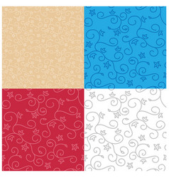 seamless backgrounds with swirl texture - set vector image