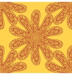 Seamless sea star doodle vector image