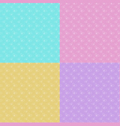 set of colorful abstract seamless patterns with vector image