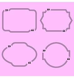 Set of Different Quote Speech Bubbles vector image