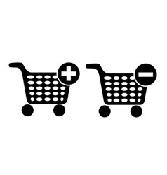 set of shopping chart icon vector image