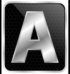 Silver tipographic vector