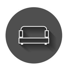 sofa sofa icon with long shadow vector image
