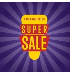 Super sale isolated discount sticker vector image