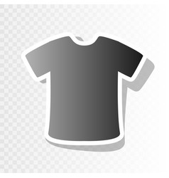 T-shirt sign new year blackish icon on vector