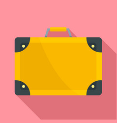 travel suitcase icon flat style vector image