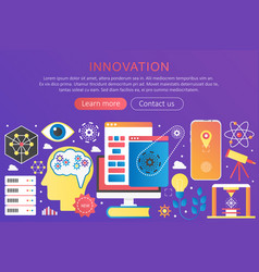 trendy flat gradient color innovation vector image