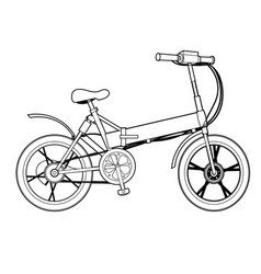 Two wheeled electric bicycle ecology vehicle vector