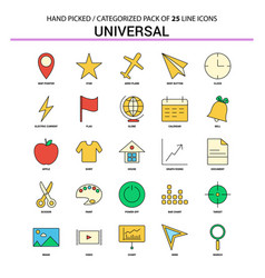 Universal flat line icon set - business concept vector