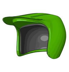 Use helmet reduce fetal brain injury or color vector