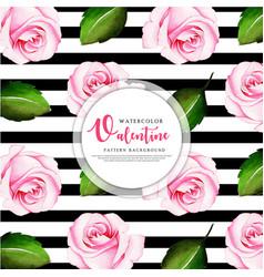 valentine black stripe pattern background vector image
