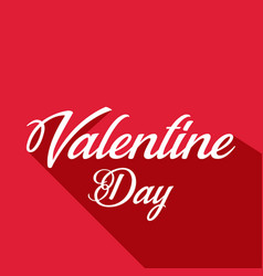 Valentine day text shadow image vector