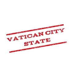 Vatican City State Watermark Stamp vector