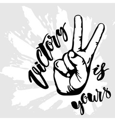 Victory sign is yours vector
