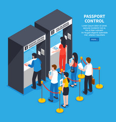 visa center concept vector image