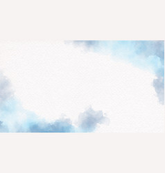 watercolor navy blue brush on white paper vector image