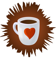with coffee cup vector image