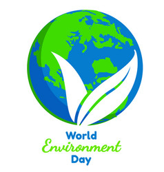 world environment day flat graphic vector image
