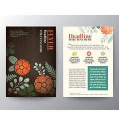 Floral background Brochure Flyer graphic design vector image