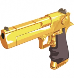golden Glock vector image vector image