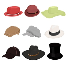 hat collaction set 01 vector image vector image