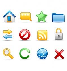 internet icon set vector image vector image