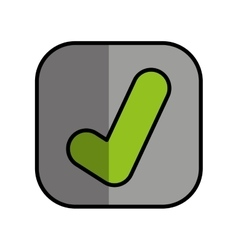 ok button isolated icon vector image