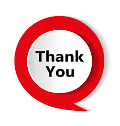 red button thank you icon vector image