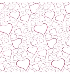 Romantic and sexy background of hearts seamless vector image vector image