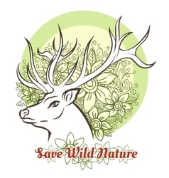 Save Wilde Nature vector image