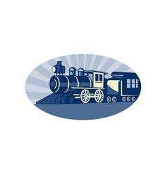 Steam train or locomotive vector image vector image