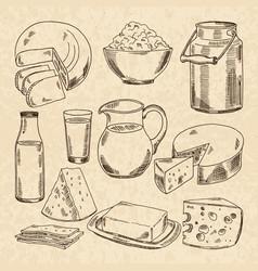 vintage hand drawn of yogurt vector image