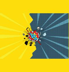 vs versus comic pop art vector image