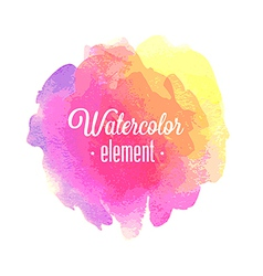 watercolor element vector image vector image