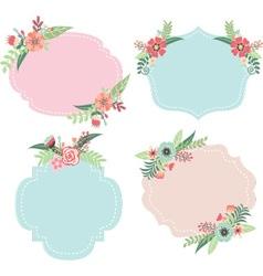 Wedding Flower Frames vector image