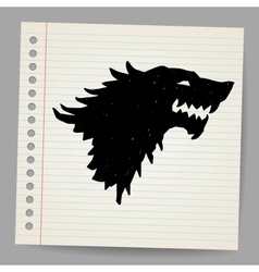 Black wolf for your design vector image vector image