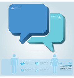 Business infographic with communication speech vector