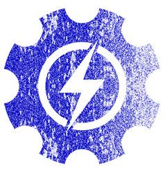 Electric power cog gear textured icon vector